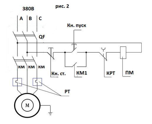 Цепь управления 380В
