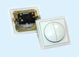 Двухклавишный выключатель для скрытой проводки