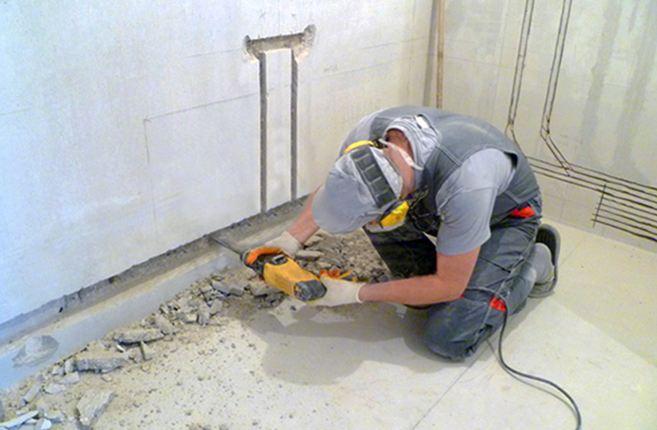 Штробление стен под проводку своими рукам