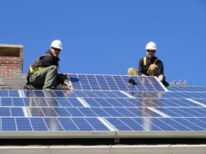 Установка солнечных батарей