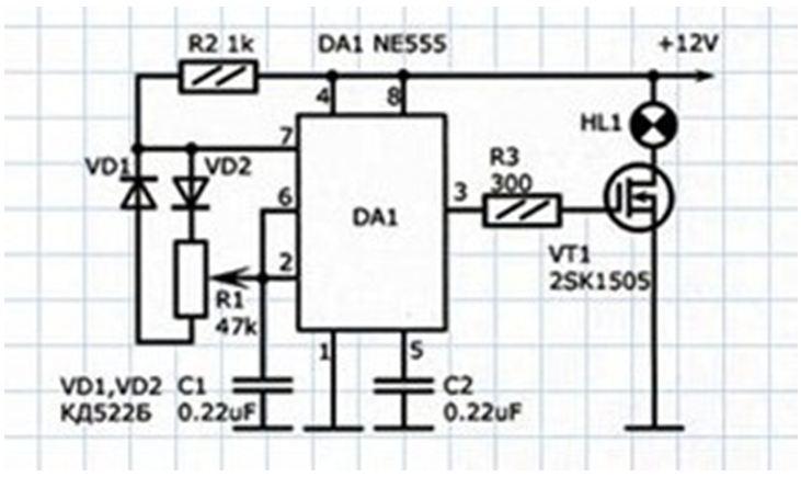 Схема диммера аналого-цифрового