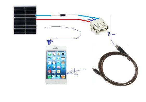 Диод Шоттке и USB- гнездо на схеме.