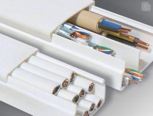 Короб для электропроводки из пластика