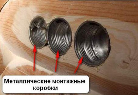 Монтажные коробки (подрозетники) в деревянном доме