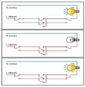 Разные способы подключения проводов
