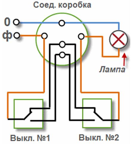как из простого выключателя сделать проходной