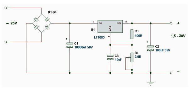 Схема для ламп накаливания на 12В