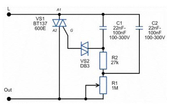 Схема для ламп накаливания