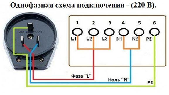 Схема подключения розетки для электроплиты