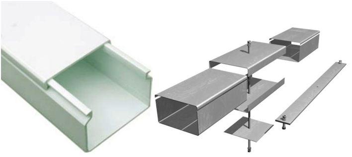 Кабель канал изготовленный из ПВХ и металлический профиль