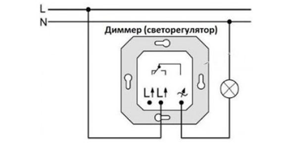 Схема подключения взамен простого выключателя
