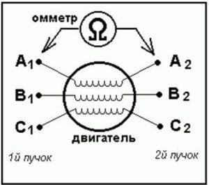 Схема для уменьшения напряжени асинхронного двигателя