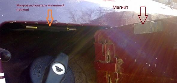 Защита бензобака от слива бензина с помощью концевого выключателя