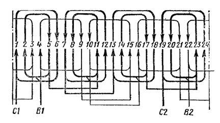 Обмоточные характеристики для аве-071-4с