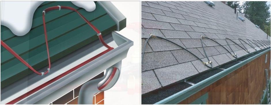 Примеры применения саморегулирующегося нагревательного кабеля