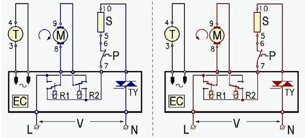 Принцип работы схемы управления коллекторным двигателем