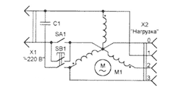 Схема электропреобразователя
