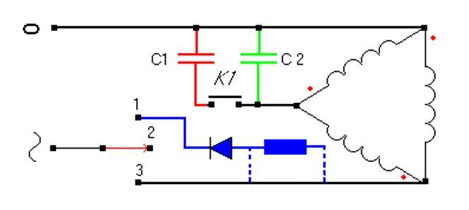 Как подключить конденсатор к электродвигателю 220в