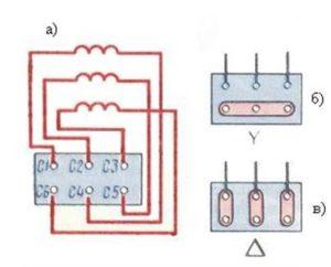 Схематичное устройство асинхронной машины