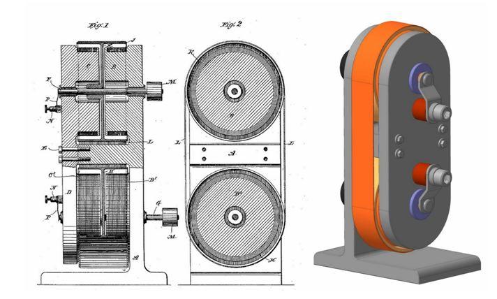 Магнитный двигатель Тесла и его схема