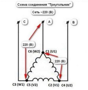 Подключение треугольником