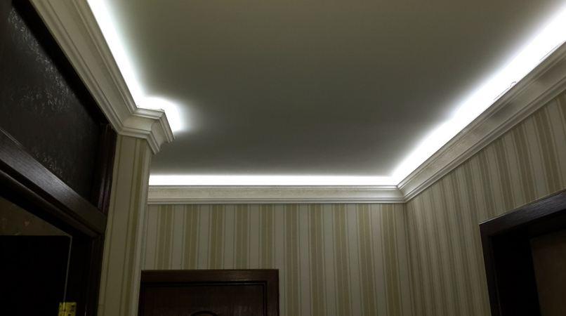 Монтаж светодиодной подсветки потолков своими руками