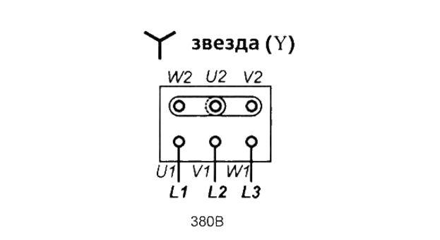 Подсоединение классического частотного преобразователя звездой