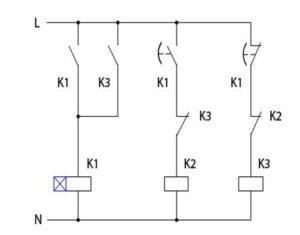 Схема подключения двигателя с помощью реле