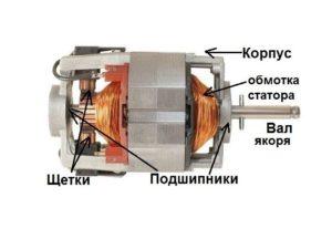 Строение коллекторного электродвигателя