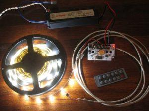 Моток светодиодной ленты и самые необходимые комплектующие к ней