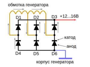 Схема диодного моста