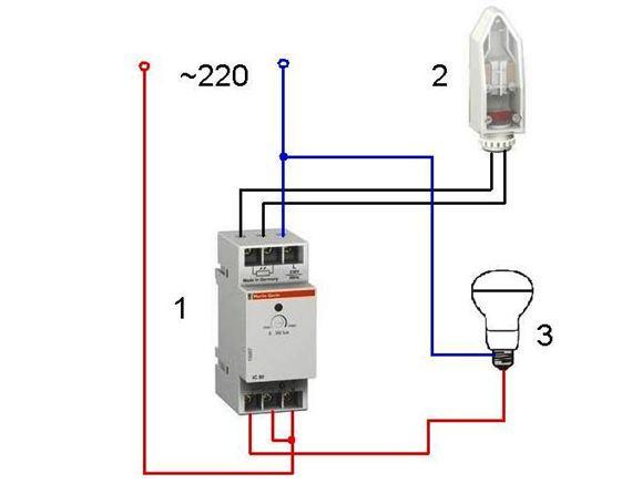 Схема фотореле для уличного освещения с выносным датчиком