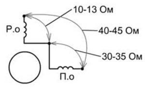 Схема однофазного асинхронного двигателя
