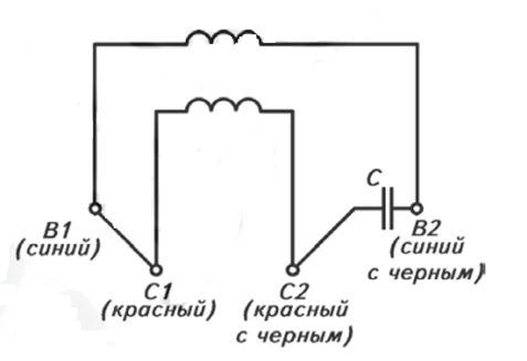 Подключение однофазного двигателя