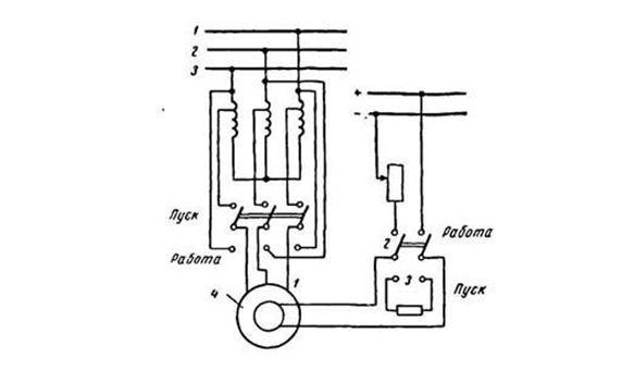 Асинхронный пуск с помощью трансформатора
