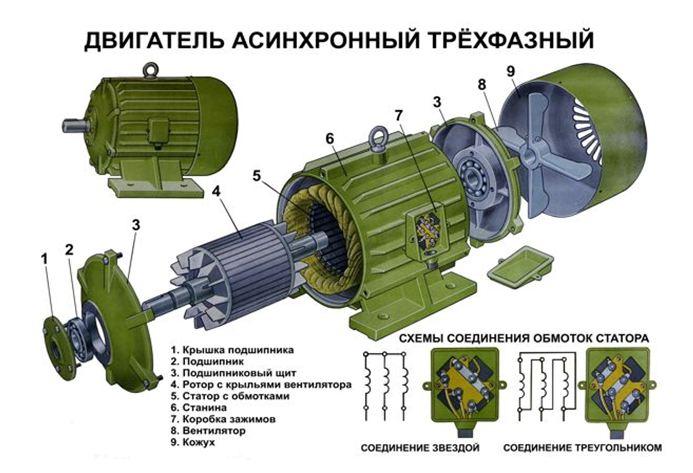 Двигатель асинхронный трехфазный