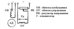 Схема на двухфазный двигатель