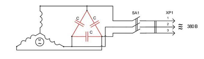 Схема переделки и подключения двигателя в режиме электрогенератора с выработкой трехфазного тока
