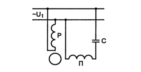 Схема подключения обмоток однофазного двигателя