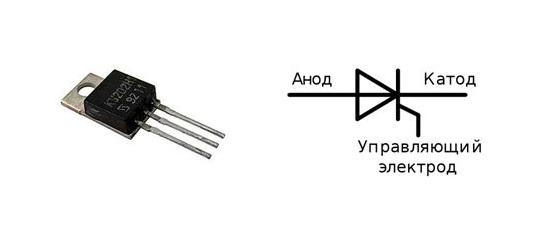 Тиристор ку202н и его схема