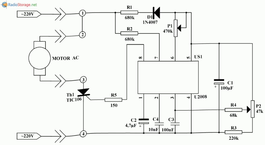 В конструкции регулятора применена интегральная схема